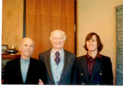 William Hermanns, Linus Pauling and Kenneth Norton, Stanford, 3/23/1976