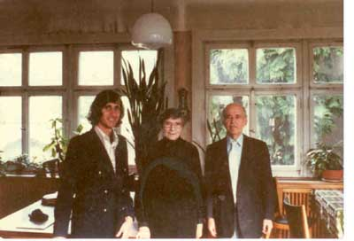 Kenneth Norton, former Empress Sita of Austria-Hungary, and William Hermanns, Chur, Switzerland, Fall 1980