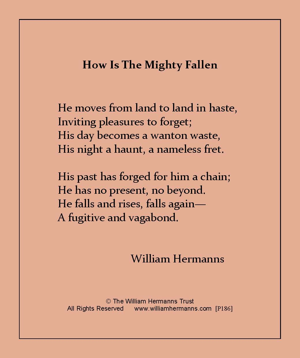 How is the Mighty Fallen by William Hermanns
