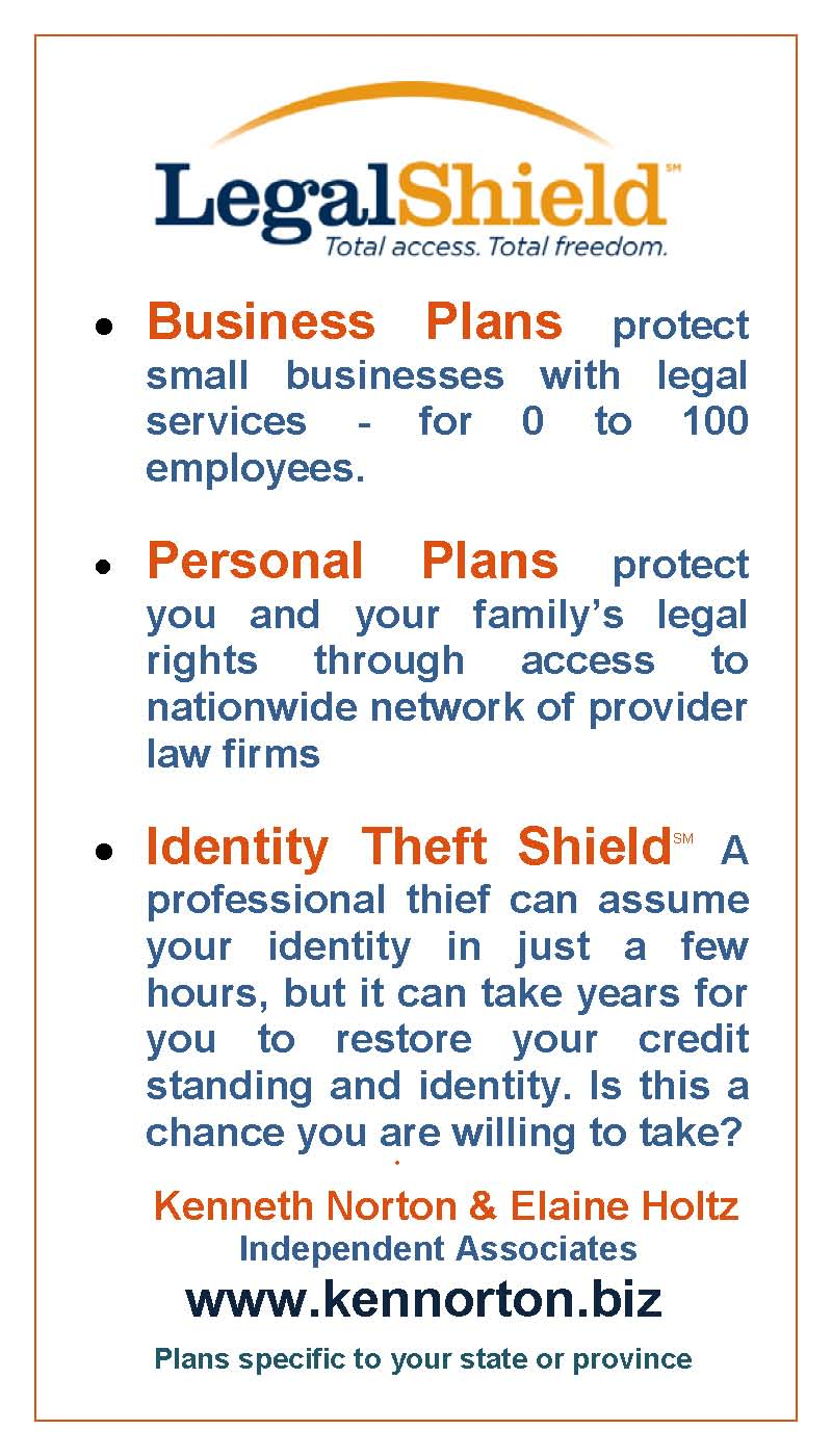 Legalshield For Business And Personal Legal Plans And For Identity Theft  Shield With Link To Www